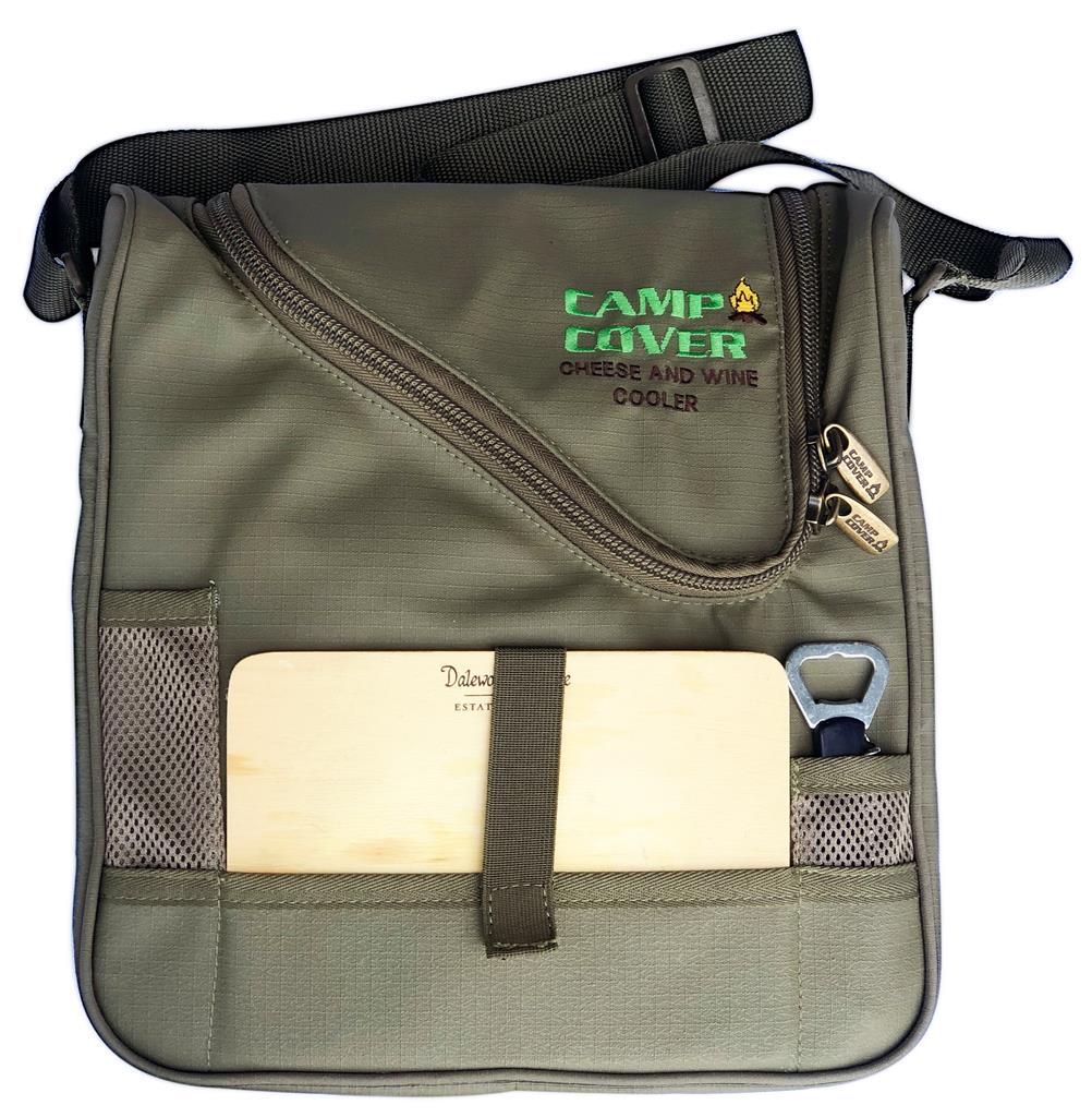 Camp Cover Picnic Cooler Cheese&Wine, Khaki