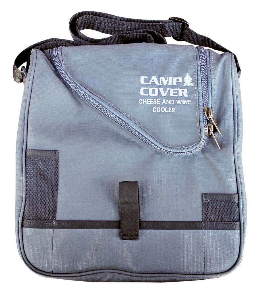 Camp Cover Picnic Cooler Cheese&Wine, Charcoal