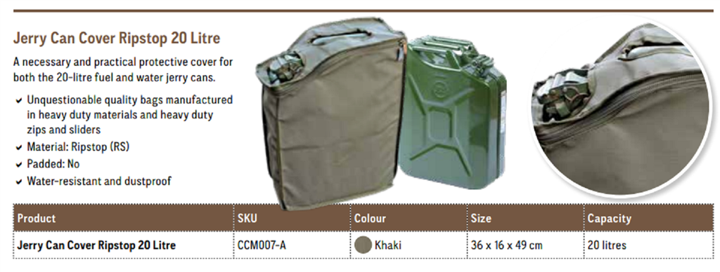 Camp Cover Jerry Can Cover 20L, Khaki
