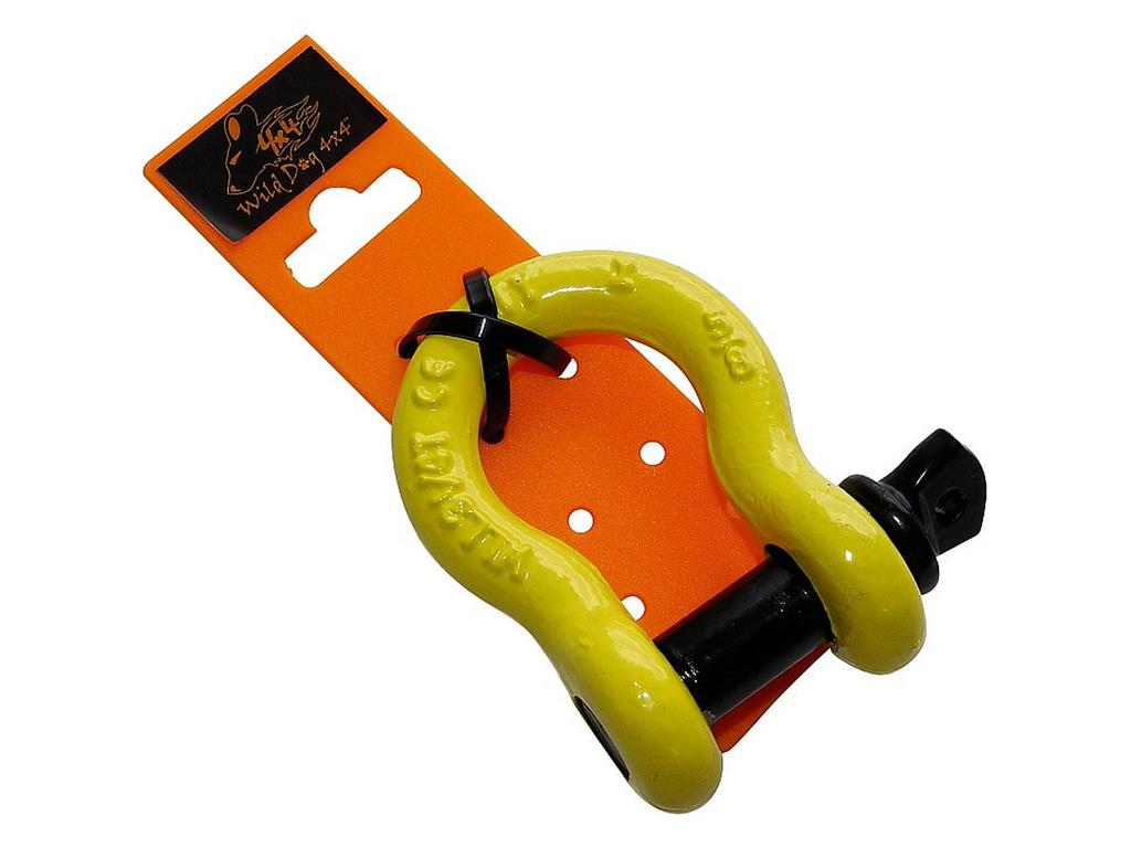 Wild Dog 4x4 Omega Bow Shackles / Yellow, Workload 3.250 kg