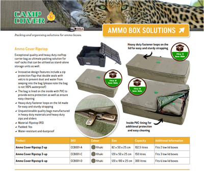 Camp Cover Ammo Cover for 3 Ammo-Boxes, Charcoal