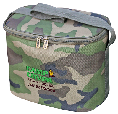Camp Cover Cooler Six Pack, camouflage