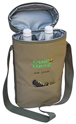 Camp Cover Cooler Two Bottles, khaki