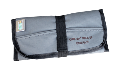Camp Cover Cutlery Roll-Up Compact 4-Set, Charcoal