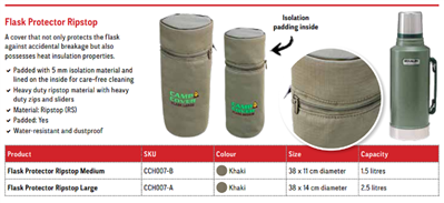 Camp Cover Flask Protector 1,5L, Khaki