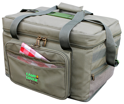 Camp Cover Picnic Cooler Deluxe 4-Persons, Khaki