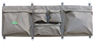 Camp Cover Seat Storage Bag Doubble, khaki