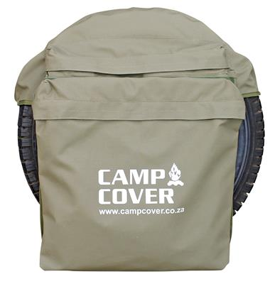 "Camp Cover Wheel Bin Safari Style with two bags 33"", khaki"