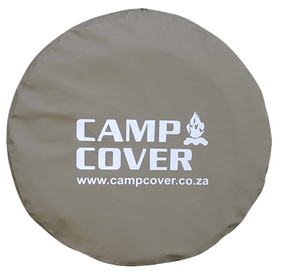 "Camp Cover Spare Wheel Cover ripstop with reflective print 32"" Khaki"
