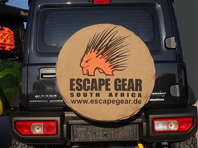 "Escape Gear Spare Wheel Cover 28"" Khaki without Bag"
