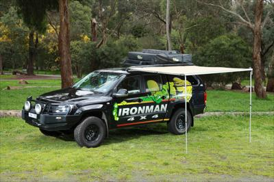 IronMan 4x4 Instant awning 2m (l) x 2.5m (out) (inc. brackets)