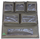 Camp Cover Door Storage System with six clear pockets and velcro, khaki